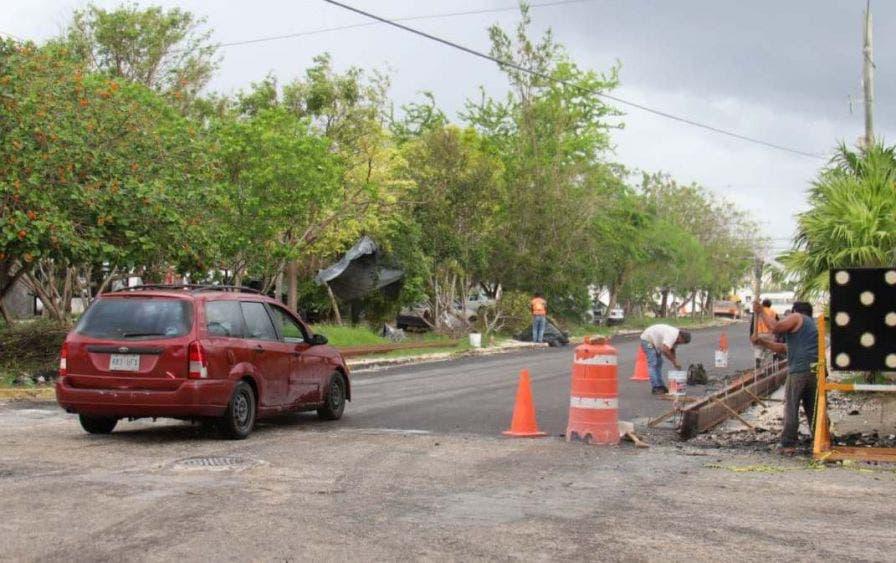 Se reabre la circulación entre la Joaquín Hendricks Díaz y Tlacuache, luego de los trabajos de repavimentación que lleva a cabo Fonatur, informa la Presidenta Municipal