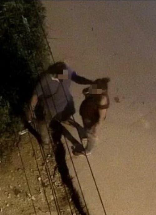 Imagen captada por la cámara de seguridad, momentos antes de perpetrarse el doble crimen.