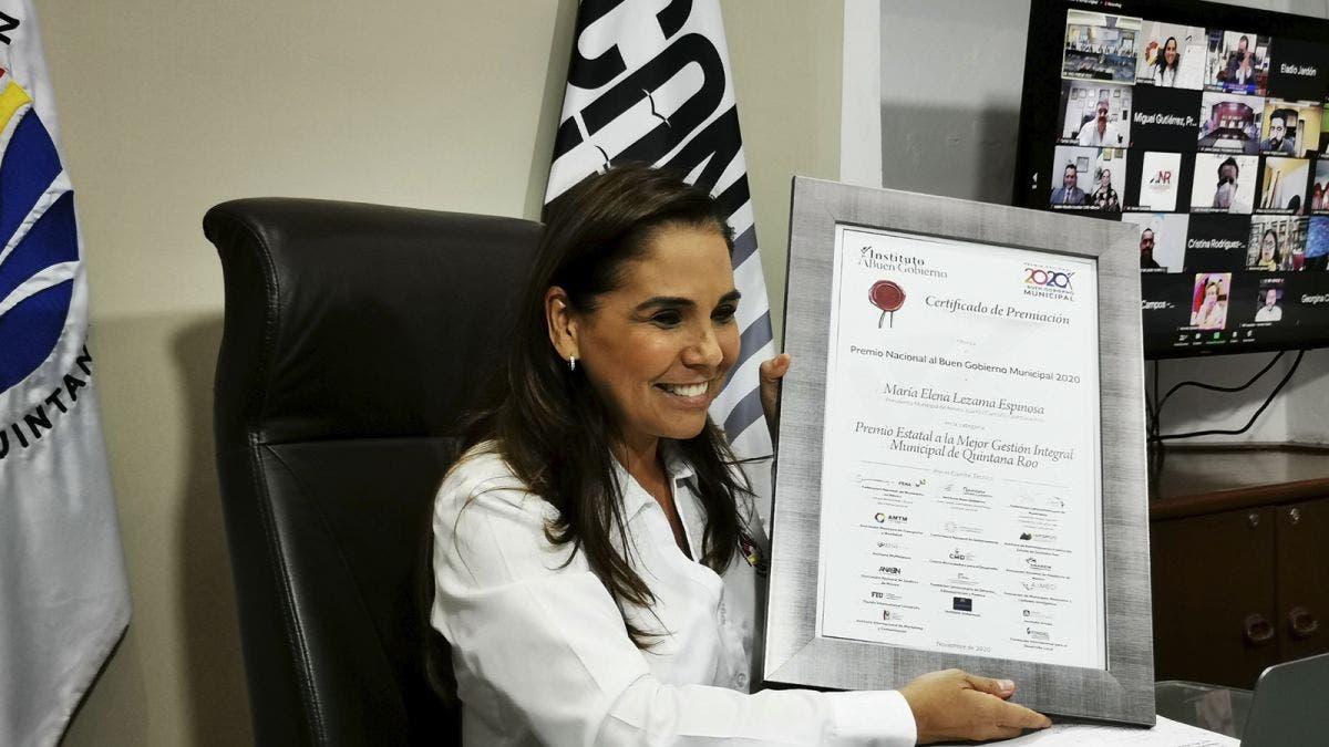 Recibe gobierno de BJ premio nacional por mejor gestión integral municipal en Quintana Roo