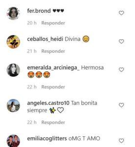 Algunos comentarios de los seguidores de Romina Marcos