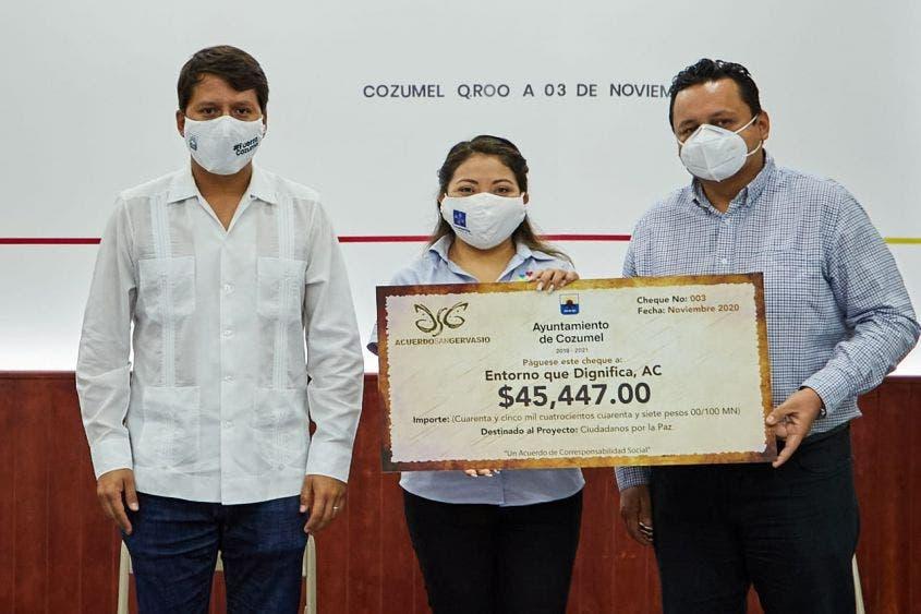 Se entregó el recurso del Acuerdo San Gervasio en Cozumel; apoyan autoridades proyectos de la comunidad en general.