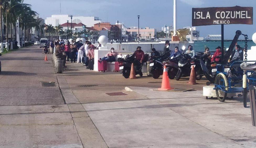 Suspendidos los cruces marítimos entre Cozumel y Playa del Carmen.
