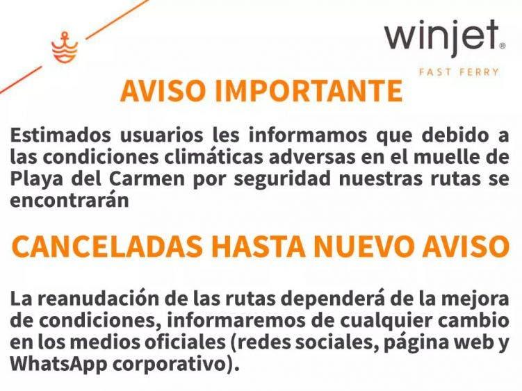 Frustrado reinicio de operaciones de transbordadores de Winjet.