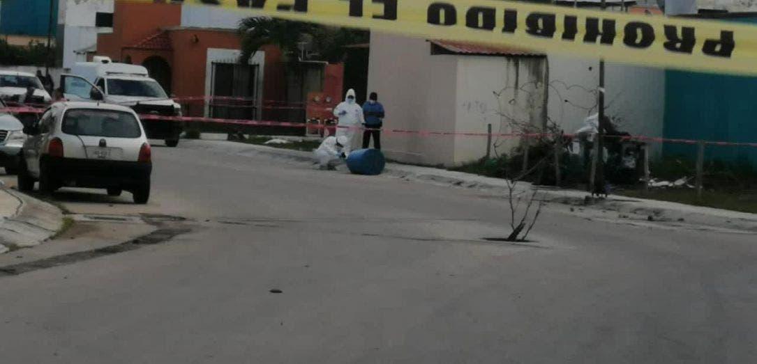 Hallan cadáver entambado en fraccionamiento de Playa del Carmen.