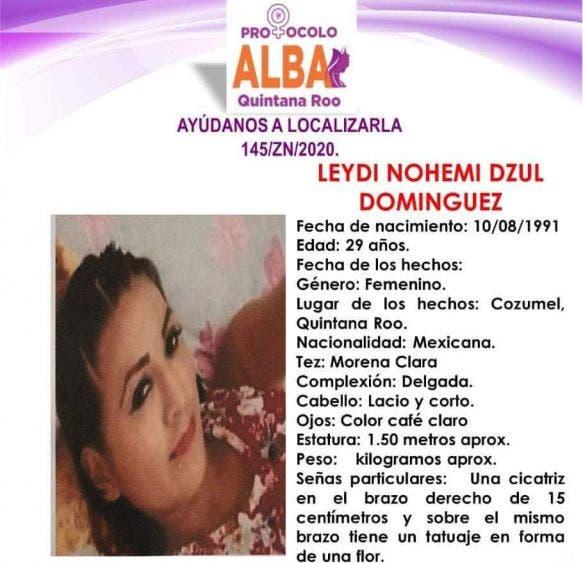 Se busca mujer desaparecida hace una semana en Cozumel.
