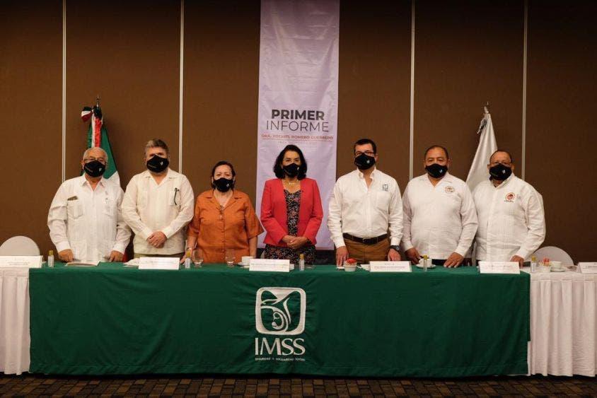 Rinde titular del IMSS en Quintana Roo primer informe de labores.