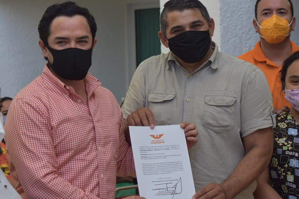 Nombran en Cozumel nuevo comisionado de Movimiento Ciudadano.