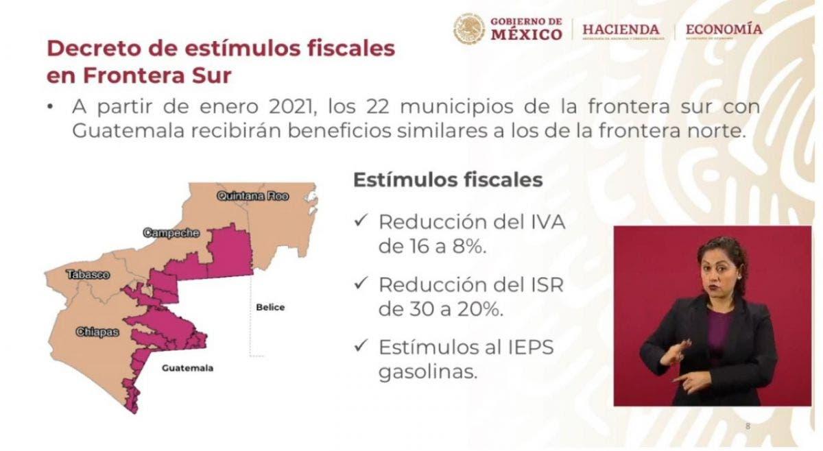 Anuncia el presidente López Obrador zona franca para Chetumal; habrá un programa de estímulos fiscales para la capital de Quintana Roo.