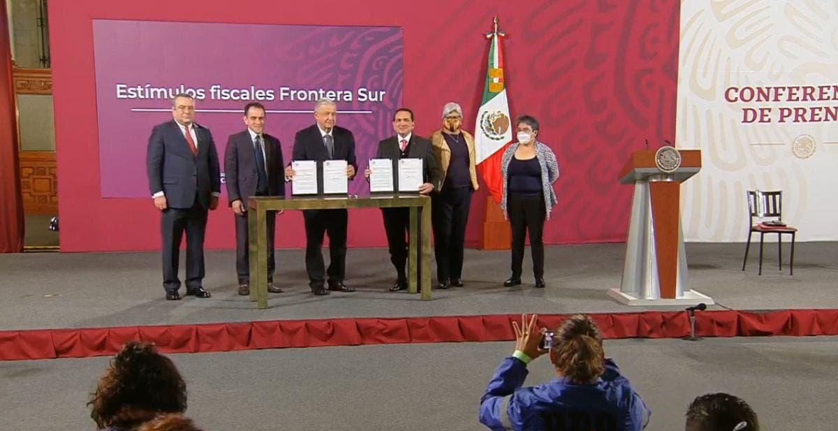 Anuncia el presidente López Obrador zona franca para Chetumal.
