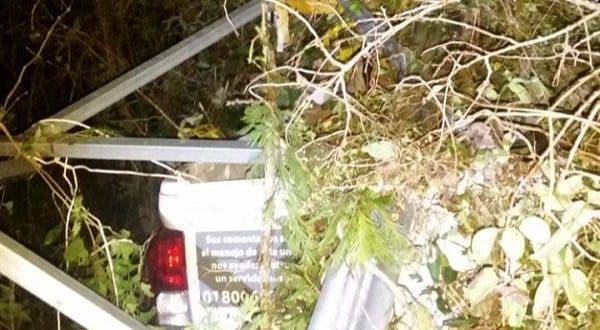 Trabajador de Bachoco sale de la vía Mérida - Muna tras dormitarse