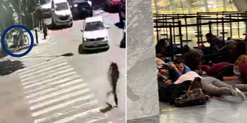 Video: Balacera causa pánico y deja un lesionado por bala perdida