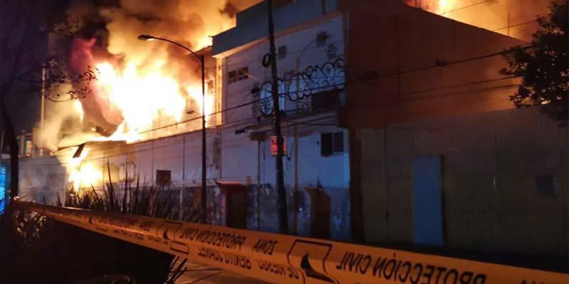 Se registra incendio en estación de la CFE