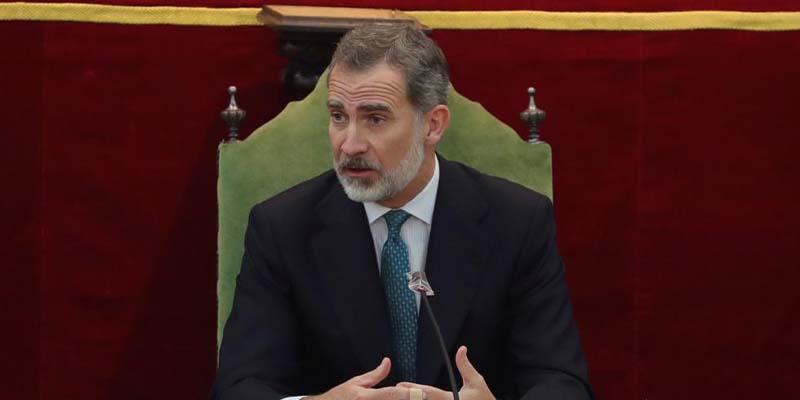 Rey Felipe VI en cuarentena tras estar en contacto con Covid-19