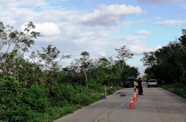 Fallece una mujer en la vía Álamo-Popolnah al caer de una moto en movimiento