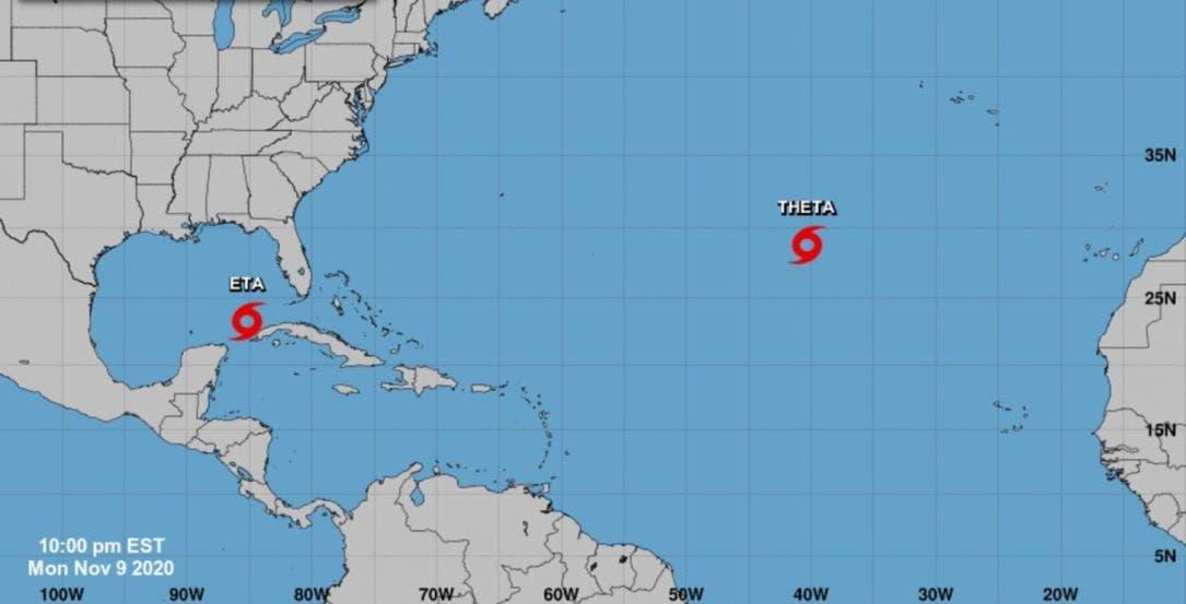 Se forma la tormenta 'Theta' en el océano Atlántico; con ella se rompe el récord de 2005 en la temporada de huracanes.