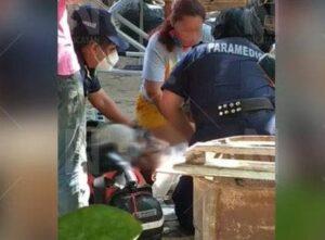 Cae trabajador de Protección Civil de una altura de 3 metros en Chicxulub (Foto: Novedades de Yucatán)