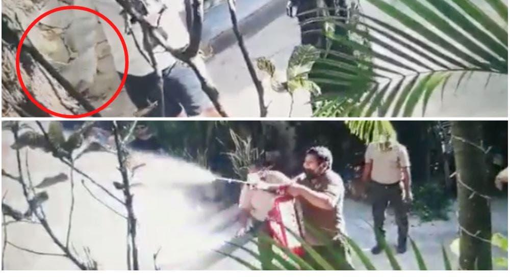 Hombres prenden fuego a hotel de Roberto Palazuelos