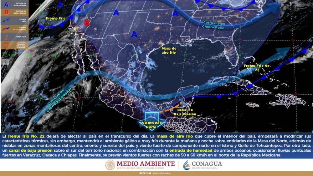 Clima: Temperaturas cálidas y probabilidad de chubascos para Quintana Roo.