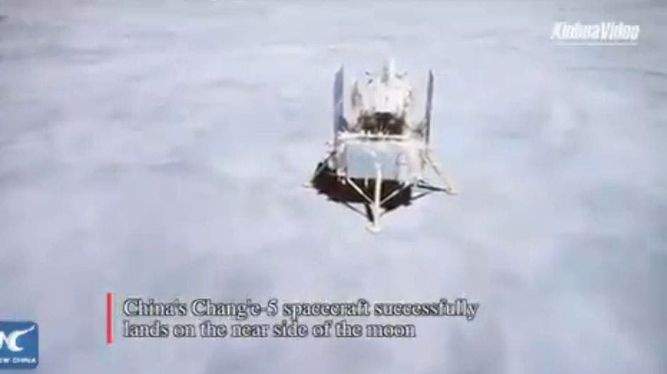 China posa en la Luna sonda Chang'e-5