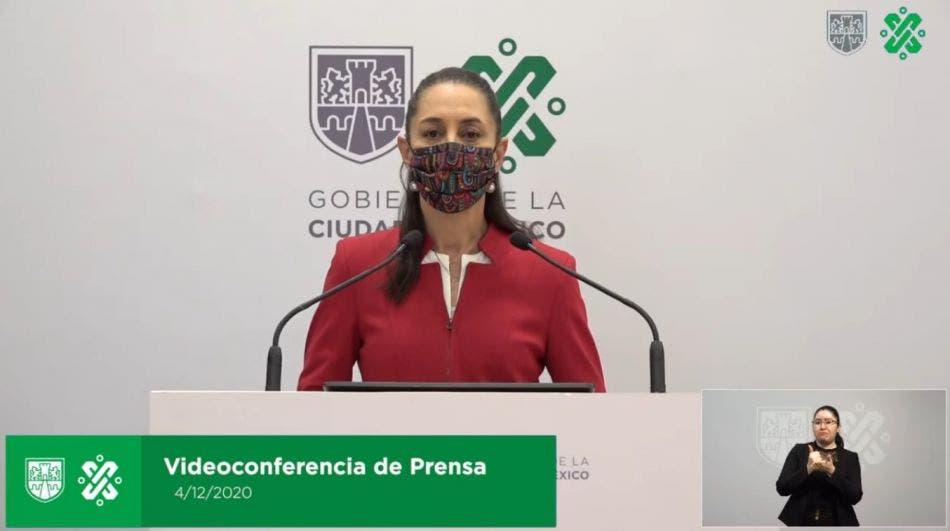 Claudia Sheinbaum, jefa de Gobierno de la CDMX, durante su conferencia el día de hoy.