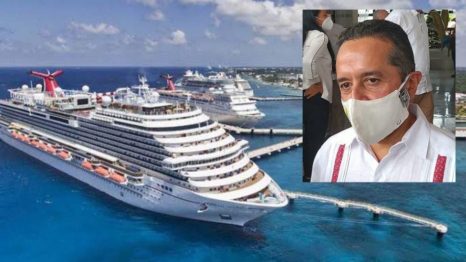 Cruceros volverían hasta marzo de 2021: Carlos Joaquín