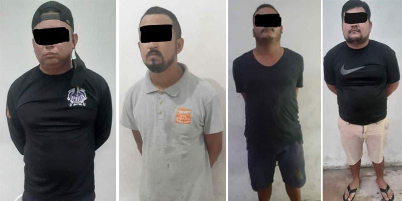 Caen cuatro sujetos en Cozumel por delitos contra la salud.