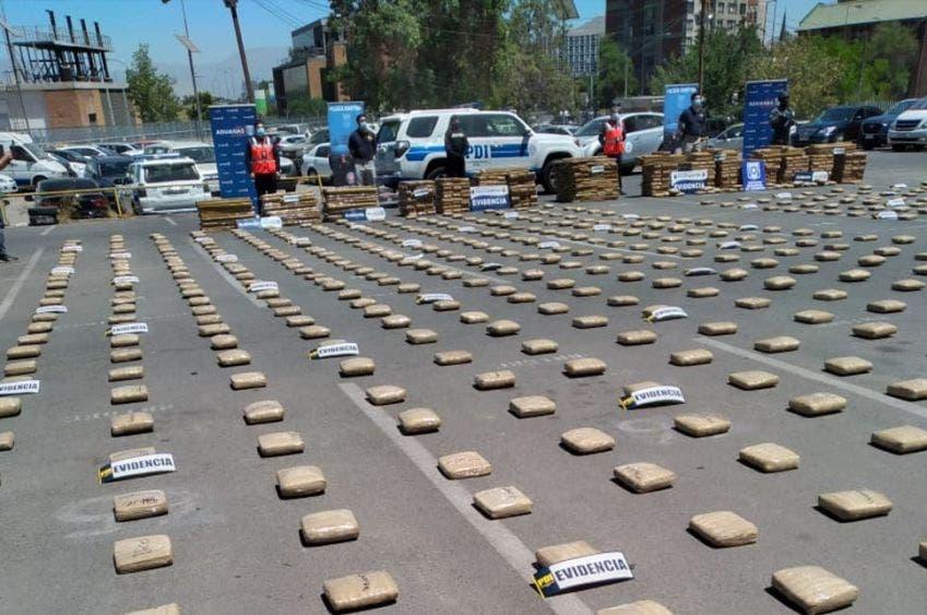 Crecen sospechas de la presencia del CJNG en Chile; logran histórico decomiso de 3.5 toneladas de marihuana provenientes de México.
