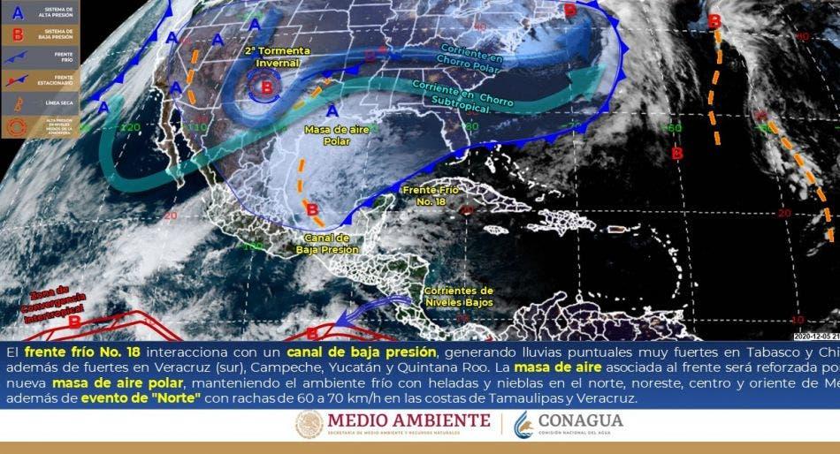 Clima: Se prevén lluvias para hoy domingo en Quintana Roo.