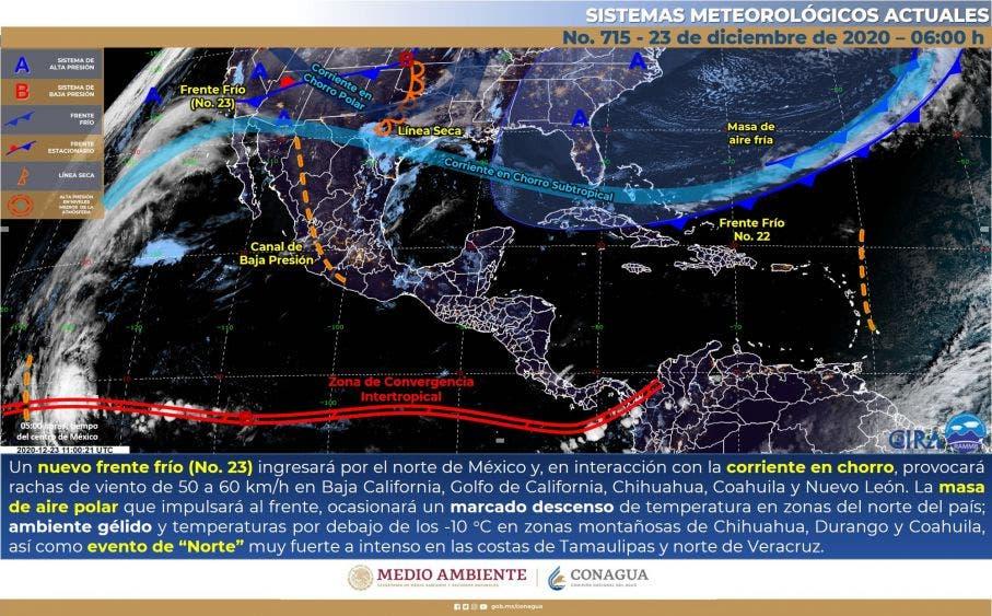 Clima: Se prevén chubascos para hoy en Quintana Roo.