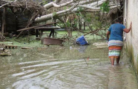 Frente Frío no.18 origina inundaciones en comisarías de Yucatán