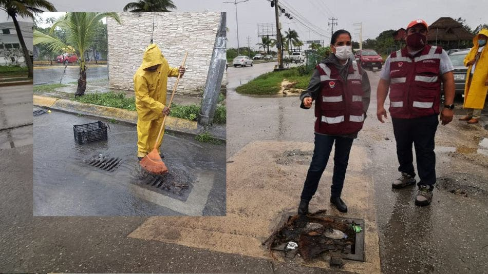 Intensifica gobierno de Benito Juárez limpieza de rejillas por lluvias