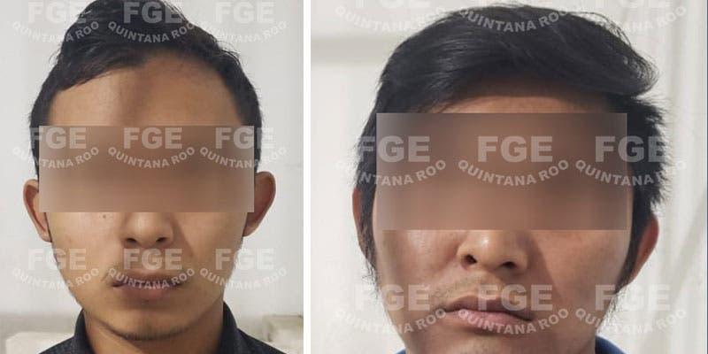 Detienen a dos narcomenudistas en fraccionamiento de Playa del Carmen.