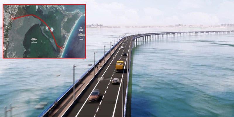 Será tripartita el desarrollo del Puente Vehicular Nichupté en Cancún.