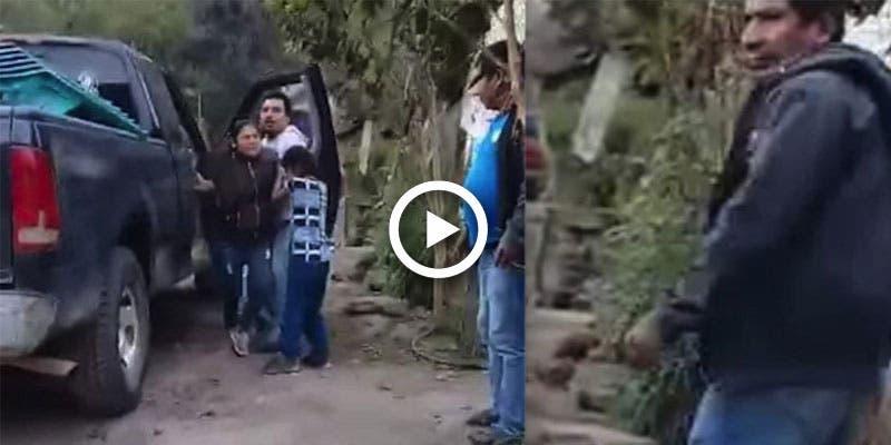 Niño graba en video el secuestro de su madre.