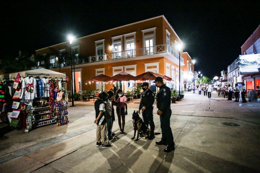 Grupo Canino refuerza la seguridad en muelle de Cozumel.