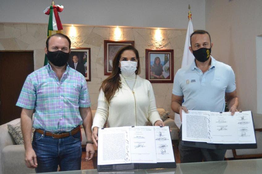 Firman convenio Fonatur y Ayuntamiento de Benito Juárez por el Tren Maya.