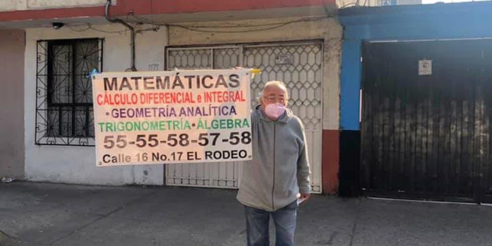 Abuelito sin dinero da clases de matemáticas para sobrevivir