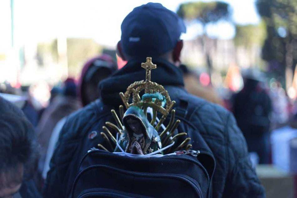 Antorchistas llegan a Río Lagartos en devoción a la Virgen de Guadalupe