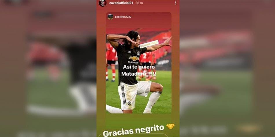"""Por decir """"Gracias negrito"""" en Instagram, el futbolista charrúa sería suspendido."""