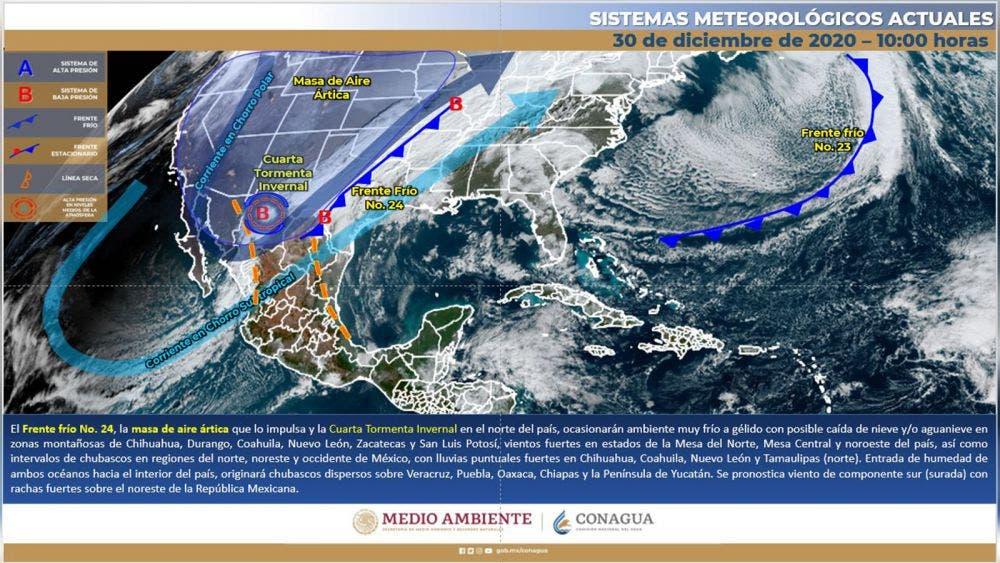 LLuvioso inicio del 2021 para Quintana Roo