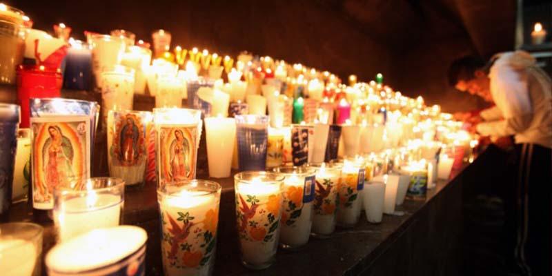 Encienden 15 mil veladoras en la Basílica de Guadalupe