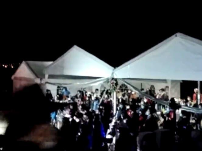 Desalojan fiesta de XV años en Querétaro, había 400 invitados