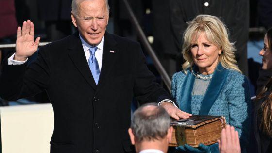 Jura Joe Biden como presidente de Estados Unidos.