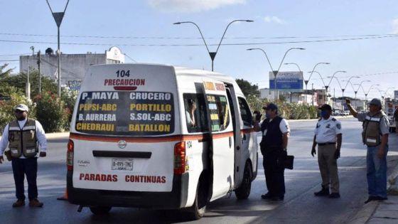 Por Covid-19 reforzarán operativos en el transporte público.
