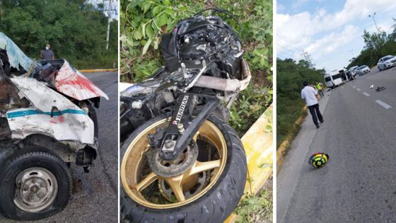 Fatal accidente en el tramo carreteero Cancún-Playa del Carmen.