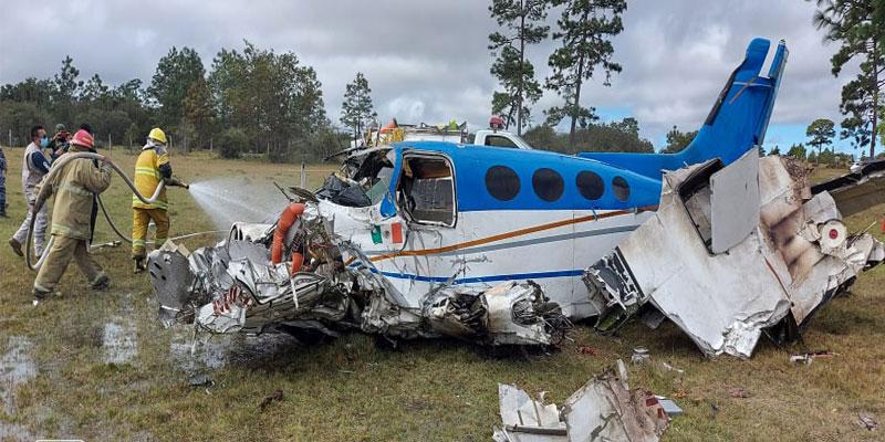 Se desploma avioneta en Chiapas; herido el piloto.
