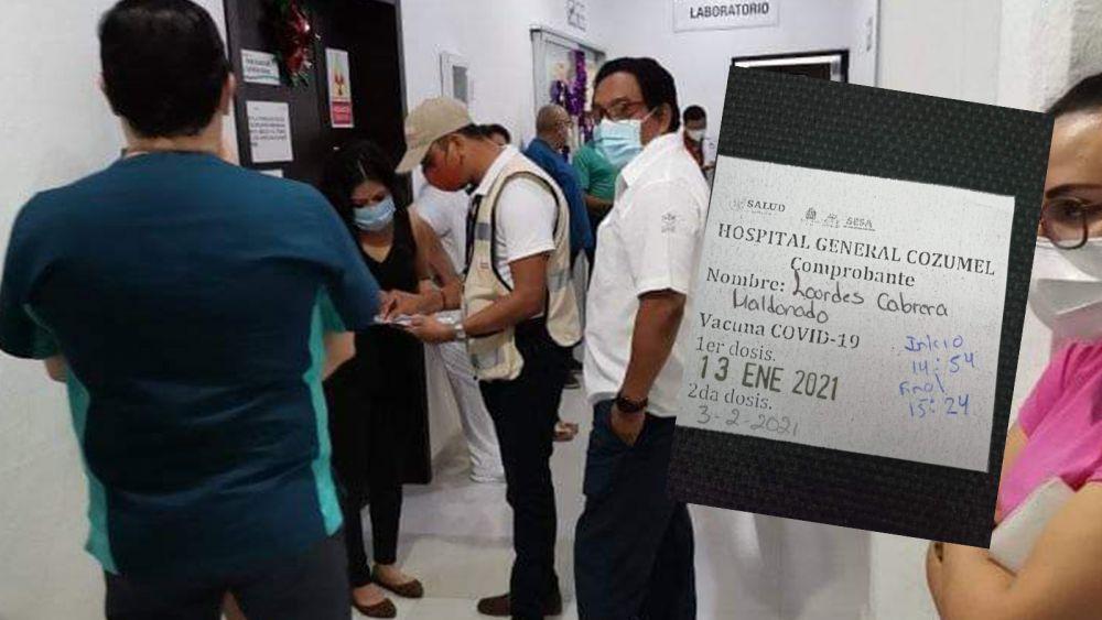"""Denuncian en Cozumel """"agandalle"""" de vacunas covid de Servidores de la Nación"""