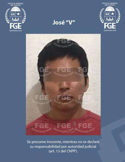 """En Cancún detienen a violador feminicida; los delitos que se le imputan a José """"V"""" se registraron el pasado 30 de diciembre en una vivienda."""
