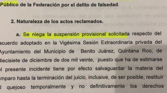 Niega juez suspensión provisional a Inteligencia México