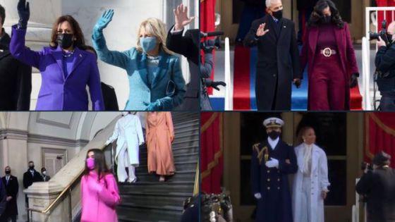 Estos son los atuendos que portaron los invitados a la toma de protesta de Biden